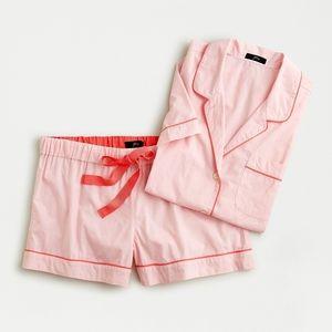 J Crew short sleeve pajama set in vivid coral